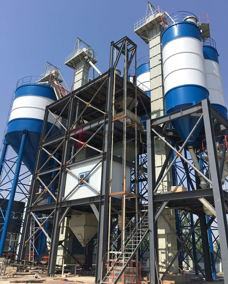 Automatic Batching Plant Premix Dry Mortar Production Line Build in Indonesia and Philippines