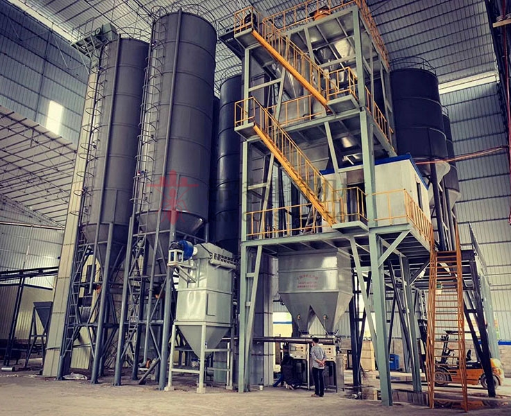 Ready mixed dry pack lime mortar mix production plant made in China