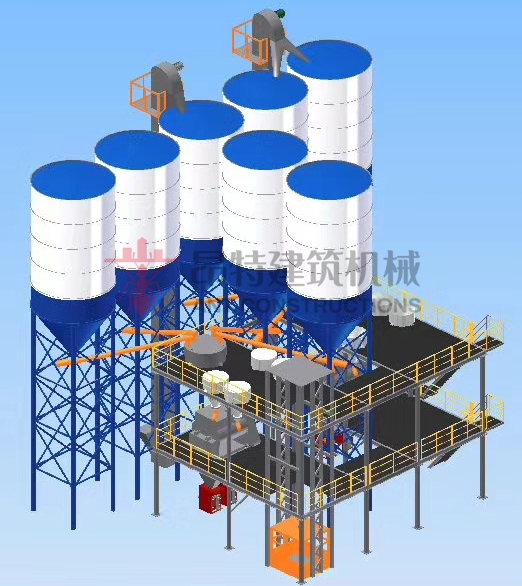 Dry Mix Cement Sand Based Mix Machine Hot Sales in China Zhengzhou Factory